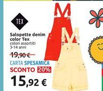Offerta per Salopette denim color Tex a 15,92€