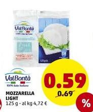 Offerta per Mozzarella light  a 0,59€