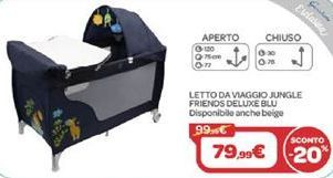 Offerta per Letto da viaggio jungle friends deluxe blu a 79,99€