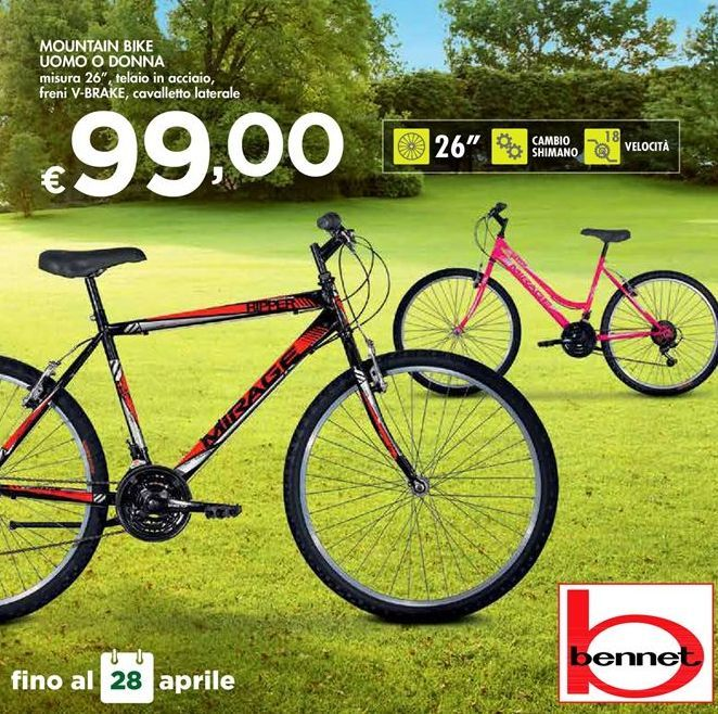 Offerta per Mountain bike uomo o donna a 99€