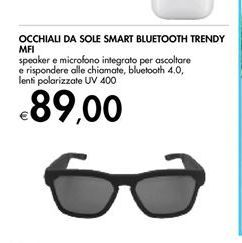 Offerta per Occhiali da sole smart bluetooth trendy MFI a 89€