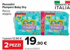 Offerta per Pannolini pampers baby dry a 19,9€