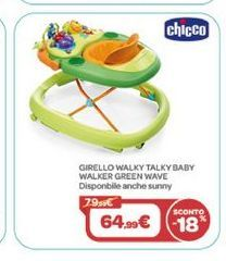Offerta per CHICCO - WALKY TALKY BABY WALKER GREEN WAVE a 64,99€