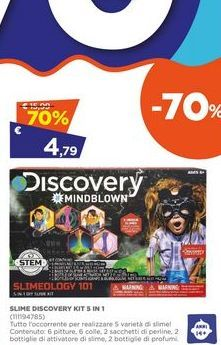 Offerta per Slime Discovery kit 5 in 1  a 4,79€