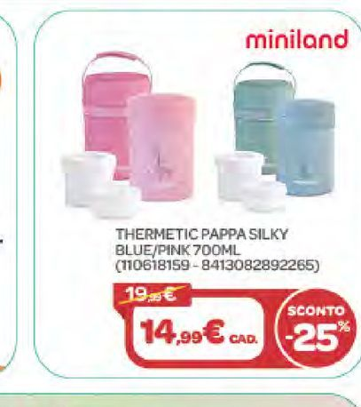 Offerta per Thermetic Pappa Silky Blue/Pink a 14,99€