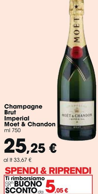 Offerta per Champagne brut imperial Moet & Chandon a 25,25€