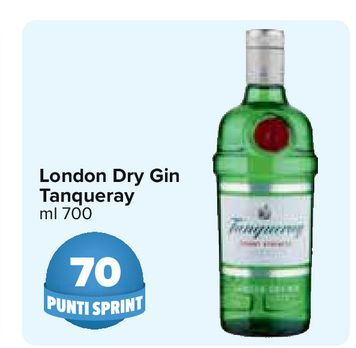 Offerta per London Dry Gin Tanqueray a