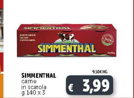 Offerta per SIMMENTHAL carne in scatola  a 3,99€